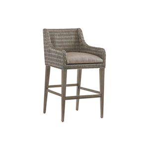 Cypress Point Smoke Gray and Brown Turner Woven Bar Stool