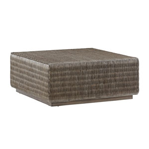 Cypress Point Smoke Gray Seawatch Woven Cocktail Table