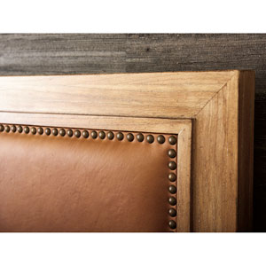Los Altos Brown Antilles Upholstered King Panel Headboard