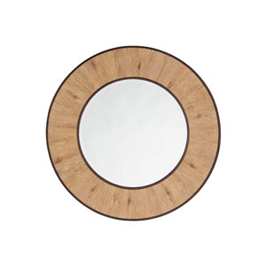 Los Altos Brown Carins Round Mirror