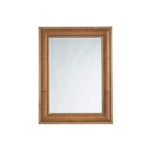 Los Altos Brown Dominica Leather Rectangular Mirror