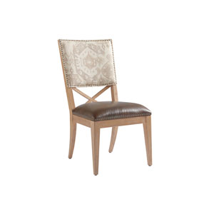 Los Altos Brown and Gray Alderman Upholstered Side Chair