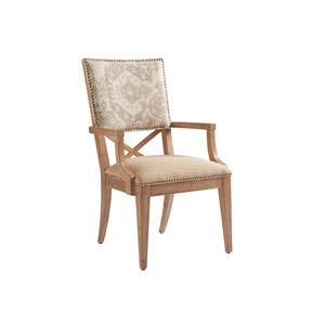 Los Altos Gold and Gray Alderman Arm Chair