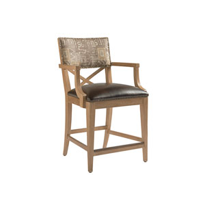 Los Altos Gold and Brown Sutherland Upholstered Counter Stool