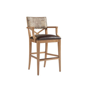 Los Altos Gold and Brown Sutherland Upholstered Bar Stool