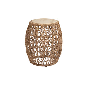 Los Altos Brown Madrid Woven Accent Table