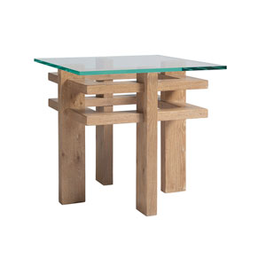 Los Altos Brown Calcutta Square End Table