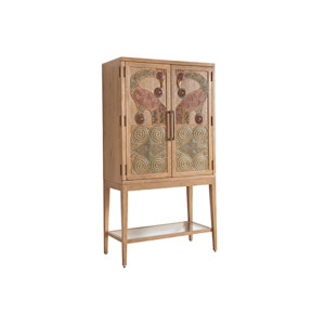 Los Altos Brown Cameroon Bar Cabinet