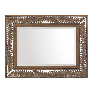 Bali Hai Brown and Silver Seabrook Landscape Mirror