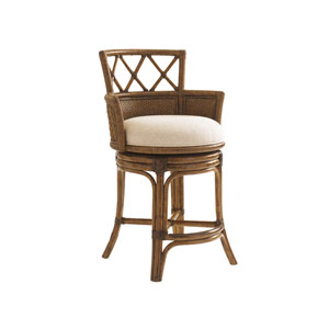 Bali Hai Brown Kamala Bay Swivel Counter Stool