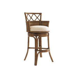 Bali Hai Brown Kamala Bay Swivel Bar Stool
