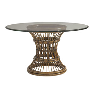 Bali Hai Brown Latitude Dining Table with 54 In. Glass Top