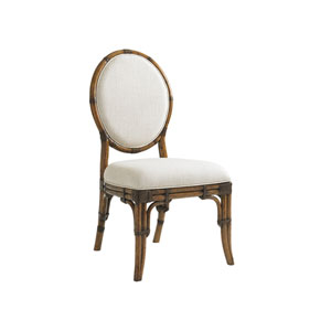 Bali Hai Brown and Ivory Gulfstream Oval Back Side Chair