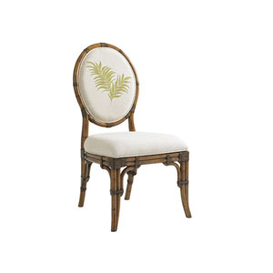 Bali Hai Brown, Ivory and Green Gulfstream Oval Back Side Chair