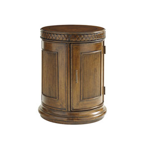 Bali Hai Brown Belize Round End Table