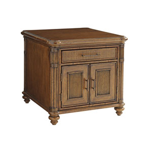 Bali Hai Brown Mariner Storage End Table