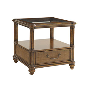 Bali Hai Brown Bimini Square End Table
