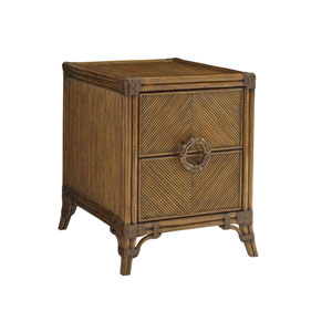 Bali Hai Brown Bungalow Chairside Chest