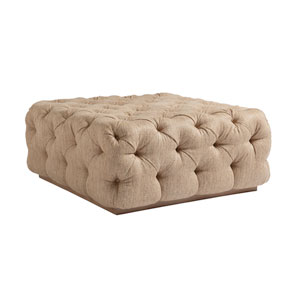 Los Altos Beige Laurel Cocktail Ottoman
