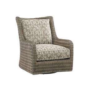 Cypress Point Smoke Gray and Beige Estero Swivel Chair