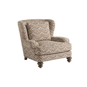 Tommy Bahama Upholstery Brown and Beige Kent Chair