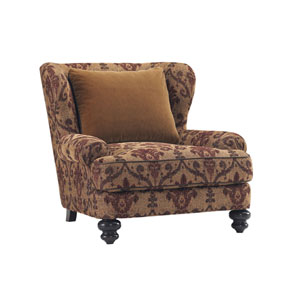 Tommy Bahama Upholstery Tan and Red Kent Chair