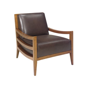 Island Fusion Brown Singapore Leather Chair