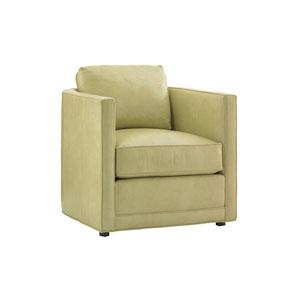 Twin Palms Green Dorado Beach Leather Chair