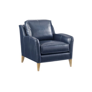 Twin Palms Blue Coconut Grove Leather Chair