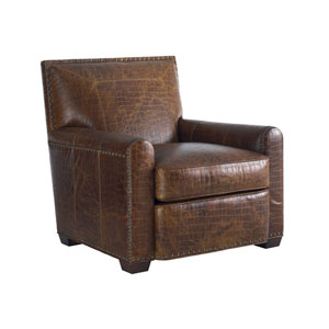 Tommy Bahama Upholstery Brown Stirling Park Leather Chair
