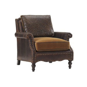 Tommy Bahama Upholstery Brown Belgrave Leather Chair