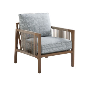 St Tropez Natural Teak Weather Resistant Aluminum Occasional Chair