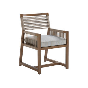 St Tropez Natural Teak Arm Dining Chair