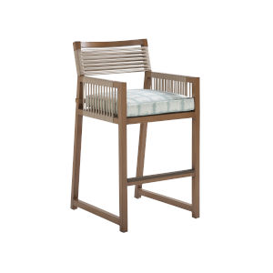 St Tropez Natural Teak 31-Inch Bar Stool