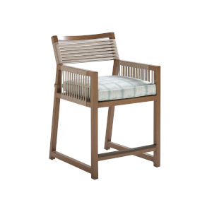 St Tropez Natural Teak 25-Inch Counter Stool
