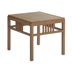 St Tropez Natural Teak Rectangular End Table