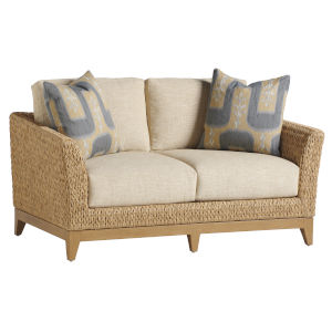 Los Altos Valley View Brown and Ivory Loveseat