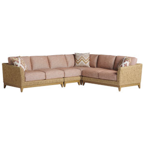 Los Altos Valley View Brown Weather Resistant Aluminum Sectional