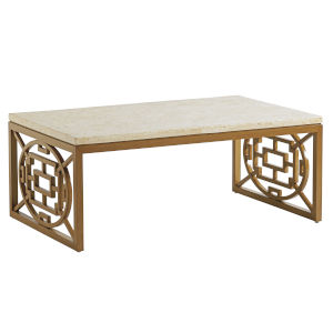 Los Altos Valley View Brown and Ivory Rectangular Cocktail Table