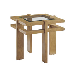 Los Altos Valley View Brown Square End Table