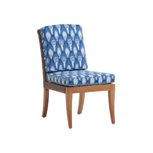 Harbor Isle Brown and Blue Side Dining Chair