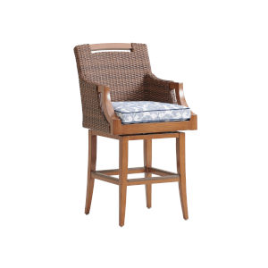 Harbor Isle Brown and Blue 30-Inch Bar Stool