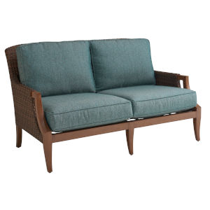 Harbor Isle Brown and Blue Loveseat