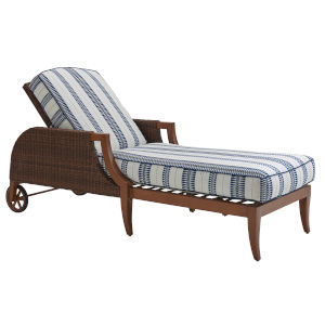 Harbor Isle Brown and Blue Chaise Lounge