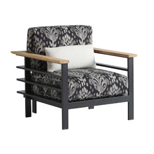 South Beach Dark Graphite and Gray Lounge Chair