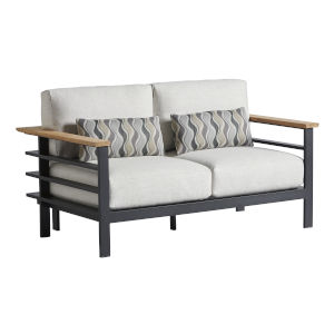 South Beach Dark Graphite and White Loveseat
