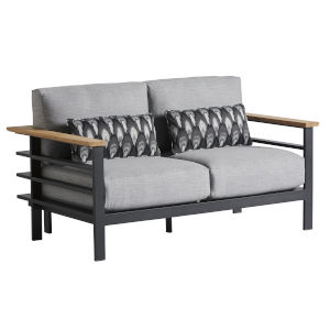 South Beach Dark Graphite and Light Gray Loveseat