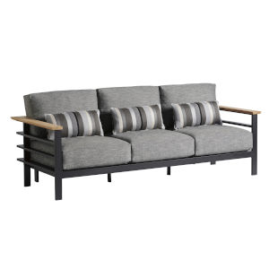South Beach Dark Graphite and Gray Sofa