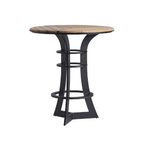 South Beach Dark Graphite and Light Brown Bistro Table