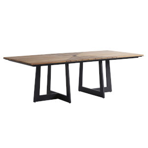 South Beach Dark Graphite and Light Brown Rectangular Dining Table